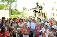 Cung thỉnh Tượng Bác Hồ với thiếu nhi về Nhà thiếu nhi TP. HCM