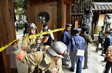 Một người đàn ông xuất hiện ngay trước vụ nổ ở đền Yasukuni