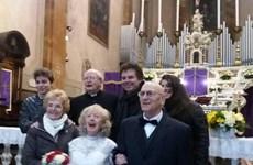 Italy: Chú rể 74 tuổi cưới cô dâu 83 tuổi vào đúng lễ Tình nhân