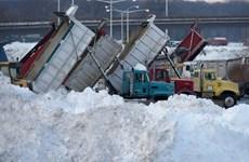 Bão tuyết mạnh và mưa băng tấn công dữ dội thủ đô Canada