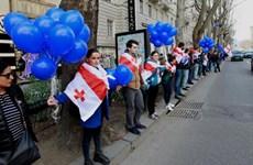 Người biểu tình Gruzia biểu tình phản đối mua khí của Nga