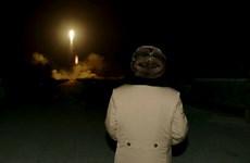 5 quả tên lửa Triều Tiên bay 200 km trước khi rơi xuống biển