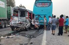 Nghệ An: Tai nạn liên hoàn giữa 3 ôtô khiến 8 người nhập viện