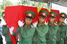 Nghệ An truy điệu, an táng 65 hài cốt liệt sỹ hy sinh tại Lào