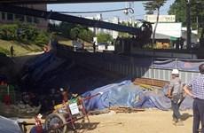 Hàn Quốc: Sập công trường tàu điện ngầm, 14 người thương vong