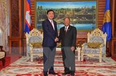 Lãnh đạo Campuchia tiếp Bí thư Thành ủy TPHCM Đinh La Thăng
