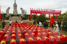 Tổ chức an táng hài cốt liệt sỹ quân tình nguyện hy sinh ở Campuchia