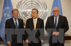 Lãnh đạo LHQ, EU thảo luận về các vấn đề hòa bình và an ninh