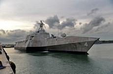 Tàu tác chiến cận bờ của Mỹ đến Singapore sẵn sàng chiến đấu