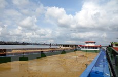 Bà Rịa-Vũng Tàu: Tạm giữ 6 sà lan vận chuyển cát trái phép