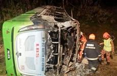 Tai nạn xe buýt thảm khốc ở Malaysia khiến 30 người thương vong