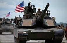 Lính Mỹ cùng các thiết bị quân sự hạng nặng đã hiện diện ở Estonia