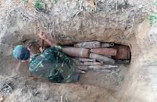 Đắk Nông hủy nổ 18 quả bom, đầu đạn trong vườn nhà dân