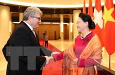 Chủ tịch Quốc hội hội đàm với Chủ tịch Hội đồng Nhà nước LB Thụy Sỹ