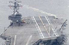 Hoàn tất tập trận, hai tàu sân bay Mỹ rời khỏi Biển Nhật Bản