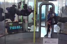 [Video] Hai người Pháp lập kỷ lục thế giới về bay tự do trong hầm gió