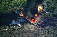 Máy bay quân sự Mỹ bị cháy vụn do bay quá độ cao cho phép