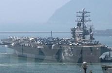Máy bay không người lái của Iran tiến gần tàu sân bay Mỹ