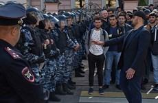 Nga bắt giữ nhiều người biểu tình trước Đại sứ quán Myanmar