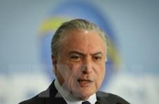 Brazil: Tỷ lệ ủng hộ Tổng thống Michel Temer tiếp tục giảm mạnh