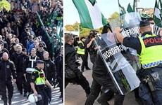 Cảnh sát Thụy Điển đụng độ người biểu tình tại Gothenburg