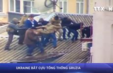[Video] Ukraine bắt cựu Tổng thống Gruzia khi đang trốn trên nóc nhà
