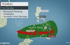 Bão nhiệt đới Tembin tràn vào Philippines với sức gió 90km mỗi giờ