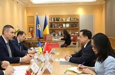 Đẩy mạnh hợp tác giữa hai thủ đô của Việt Nam và Ukraine