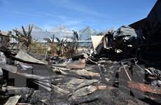 Lâm Đồng: Hỏa hoạn thiêu rụi một xưởng gỗ, lửa lan sang nhà dân