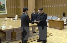 Truyền hình Triều Tiên đưa hình ảnh về cuộc gặp lịch sử Triều-Hàn