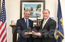 Đại sứ Phạm Quang Vinh thăm Học viện Hải quân Monterey của Hoa Kỳ