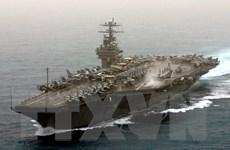 Tàu sân bay Mỹ USS Theodore Roosevelt diễn tập ở Biển Đông
