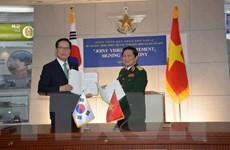 Việt Nam-Hàn Quốc ký Tuyên bố tầm nhìn chung về hợp tác quốc phòng