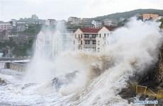 Trung Quốc: Bão Maria đổ vào tỉnh Phúc Kiến, 8.000 người dân sơ tán
