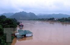 Hà Giang: Nước sông Lô cao đột biến do điều tiết từ hồ chứa Trung Quốc