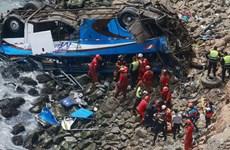 Xe buýt lao xuống vực sâu 150m, 58 hành khách thương vong