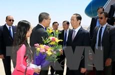 Chủ tịch nước bắt đầu thăm cấp Nhà nước đến Cộng hòa Arab Ai Cập