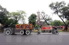 [Photo] Đoàn xe chở linh cữu Chủ tịch nước trên đường phố Hà Nội