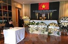 Lễ viếng nguyên Tổng Bí thư Đỗ Mười tại Thái Lan và Hàn Quốc