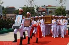 Lễ an táng nguyên Tổng Bí thư Đỗ Mười tại quê nhà Thanh Trì