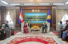 Chủ tịch Quốc hội Campuchia tiếp Đoàn đại biểu Đảng Cộng sản Việt Nam
