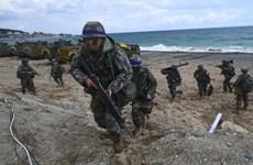 500 binh sỹ Mỹ-Hàn Quốc tập trận chung Thủy quân lục chiến
