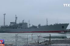 [Video] Ukraine tuyên bố sẽ đưa thêm tàu chiến tới eo biển Kerch