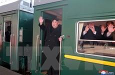 [Photo] Chủ tịch Triều Tiên Kim Jong-un tới Hà Nội bằng tàu hỏa