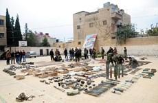 Quân đội Syria thu giữ nhiều vũ khí, đạn dược của nước ngoài