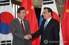 Thủ tướng Trung Quốc Lý Khắc Cường gặp người đồng cấp Hàn Quốc