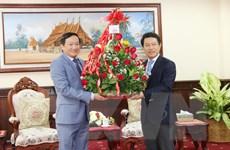 Đại sứ Việt Nam tại Lào chúc mừng Tết cổ truyền Bun Pi May