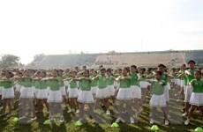 [Video] Hơn 6.000 học sinh đồng diễn thể dục xác lập kỷ lục Việt Nam
