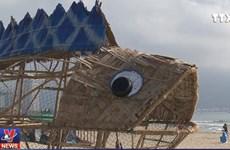 [Video] Cá bống khổng lồ 'ăn' rác nhựa trên bãi biển Đà Nẵng