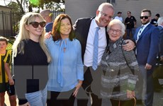 """Bầu cử Australia: Thủ tướng Scott Morrison mừng chiến thắng """"kỳ diệu"""""""